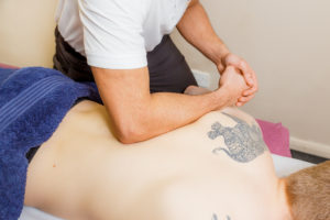 Back Massage to relieve pain