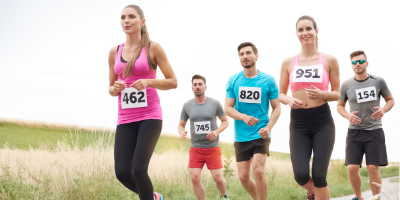 Training for a marathon running frequency