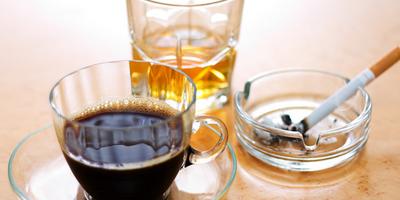alcohol, caffeine and nicotine